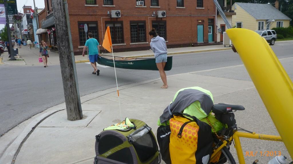 Just walking my canoe...