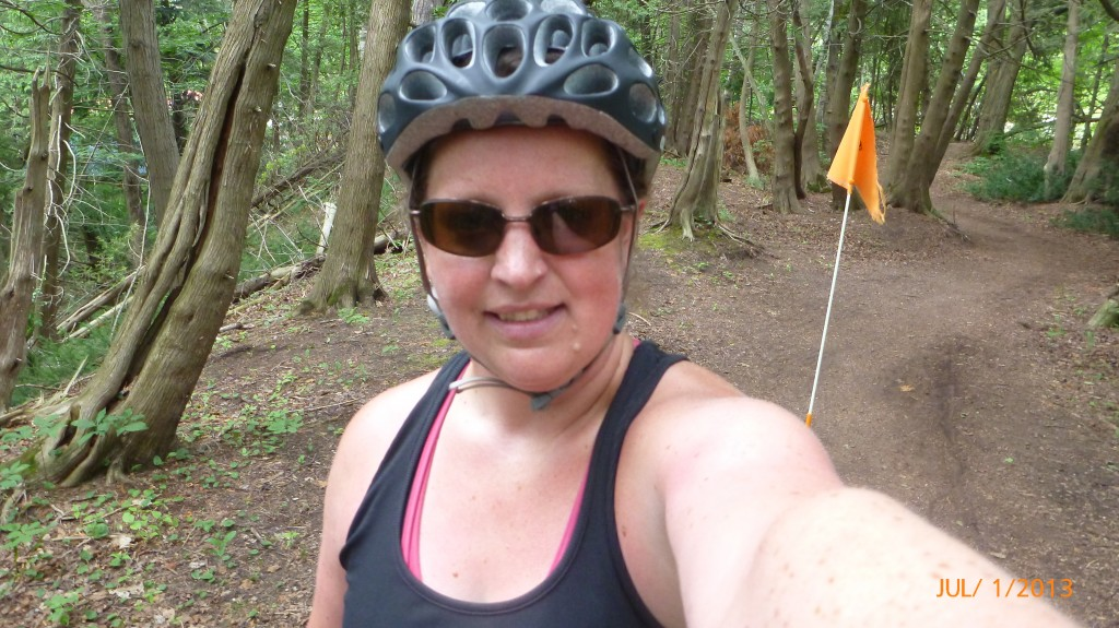 Me on the not so paved trail