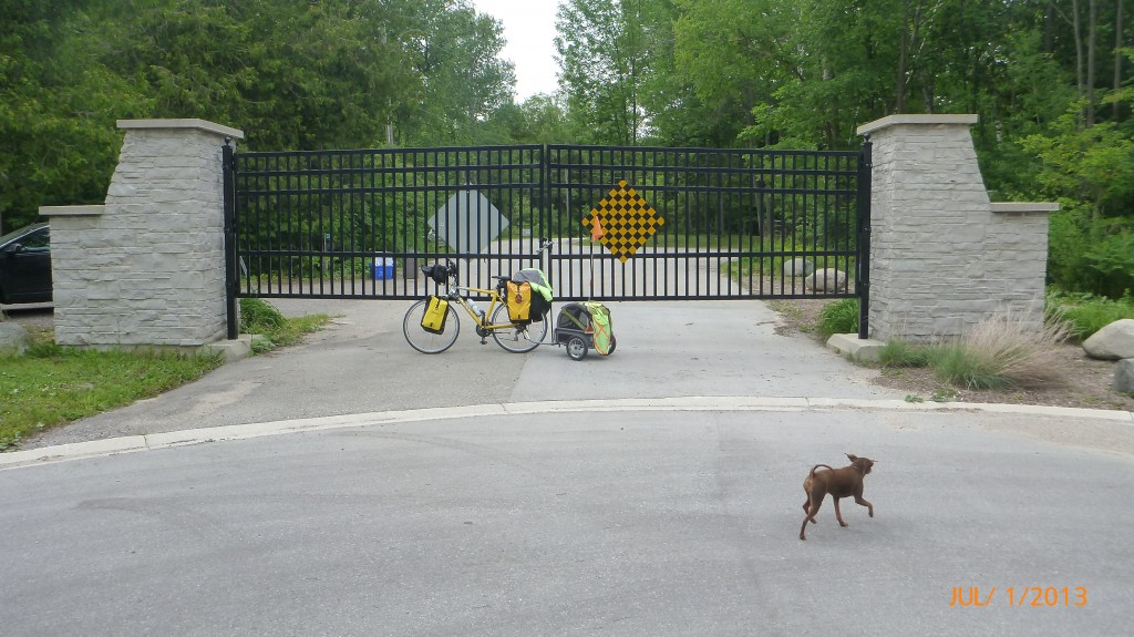 Gated communities are easier to get into on a bike!