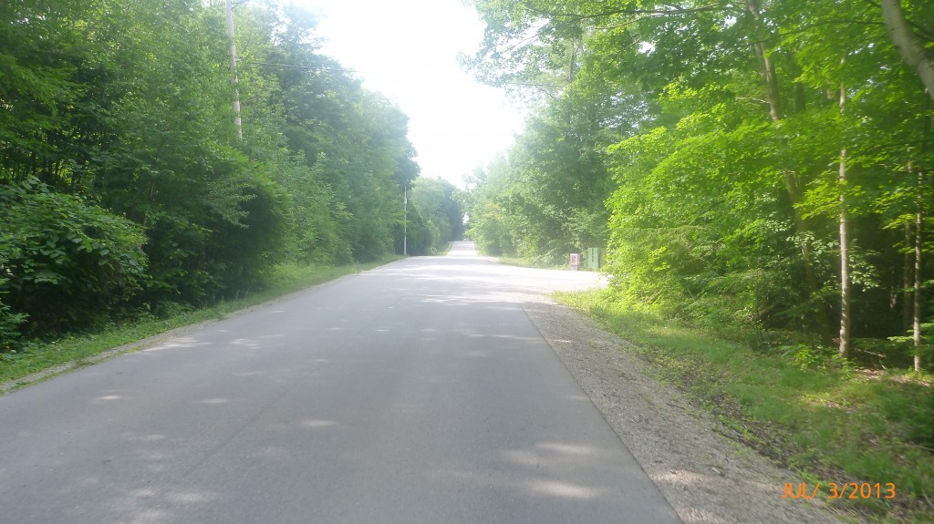 Country road on the way to Bayfield
