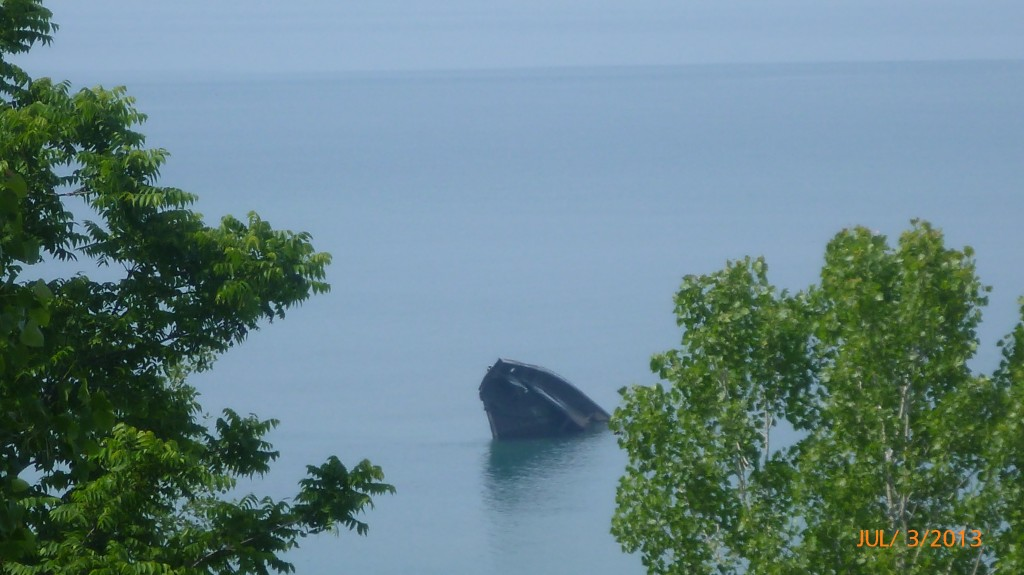 A shipwreck in Lake Huron near Bayfield
