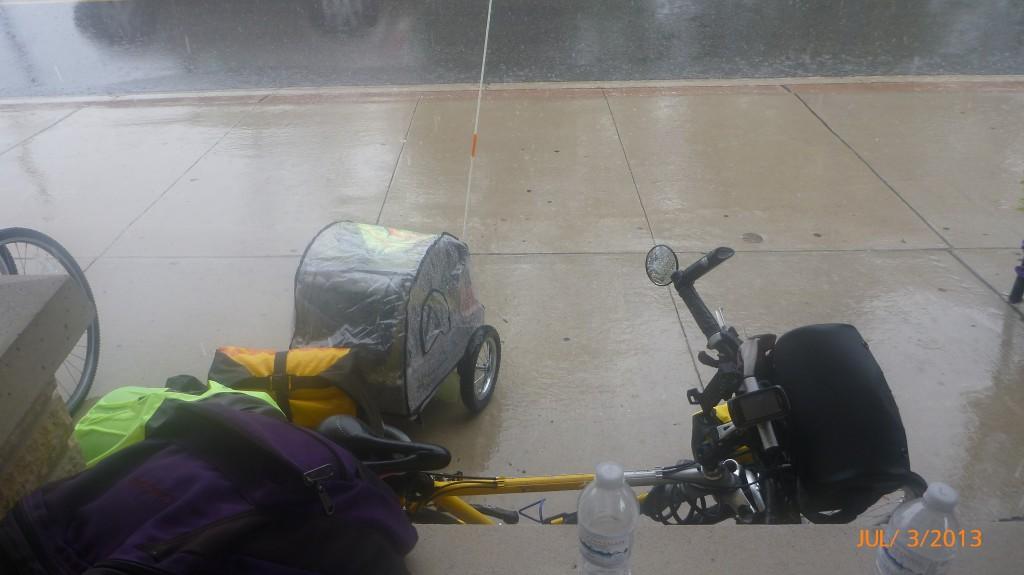 Seeking shelter from the rain