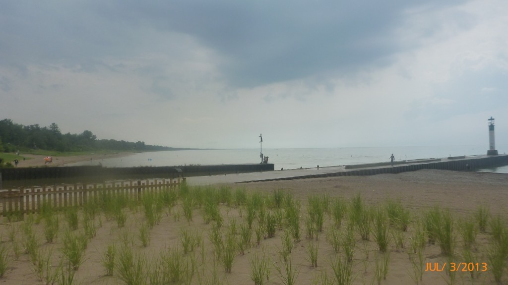 Not a great beach day in Grand Bend