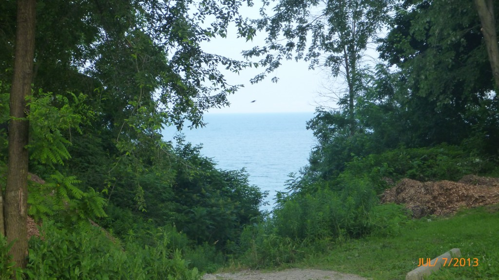 View of Lake Erie from my campground
