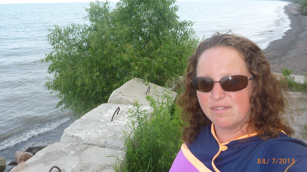Me on the shore of Lake Erie