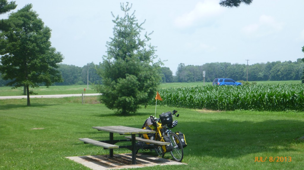 It has been interesting to watch the crops (such as corn) grow over the months and all this time I'm still cycling! :)
