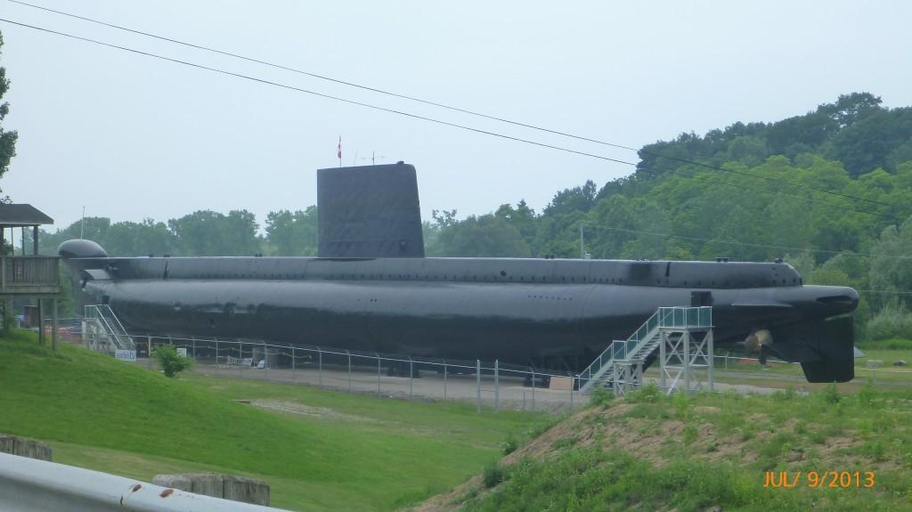 Submarine in Port Burwell