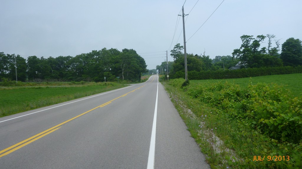 Peaceful quiet country roads to bike along
