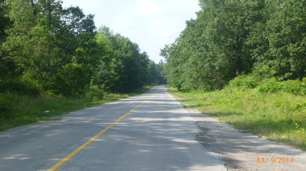 Cycling through Turkey Point Provincial Park