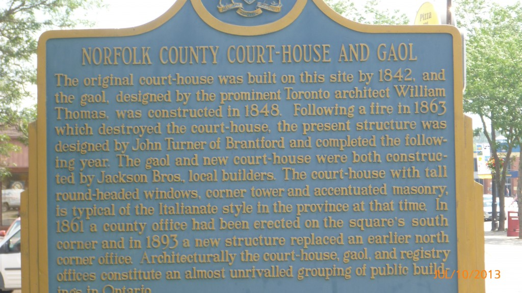 Info plaque in Simcoe