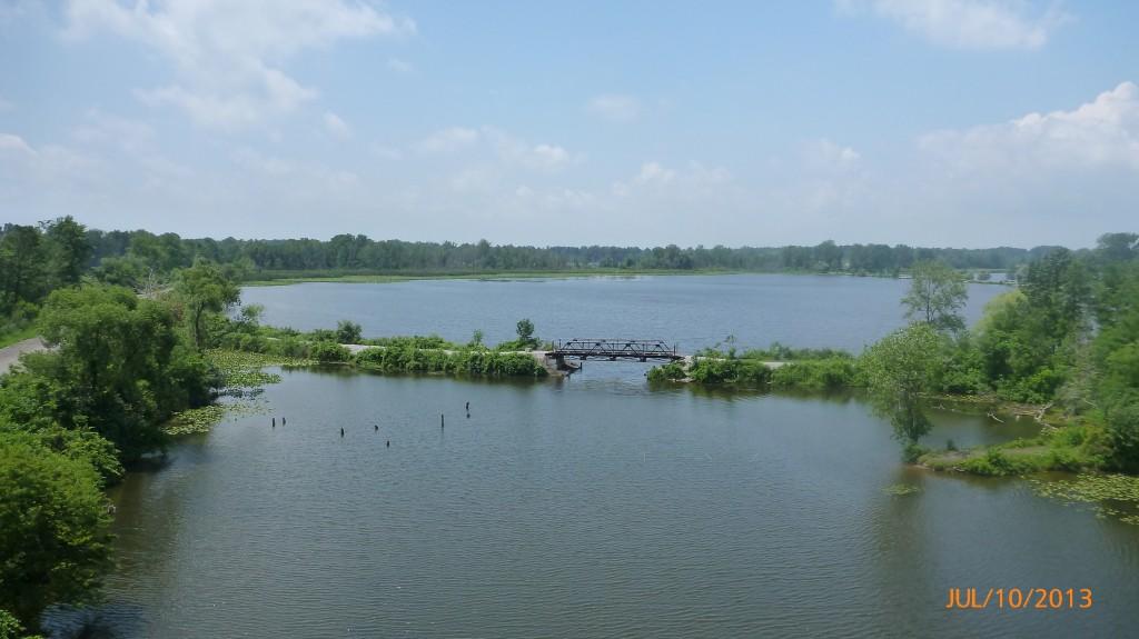 View along the rail trail