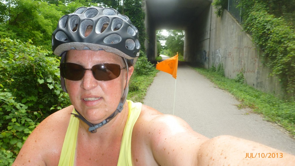 An underpass along the rail trail