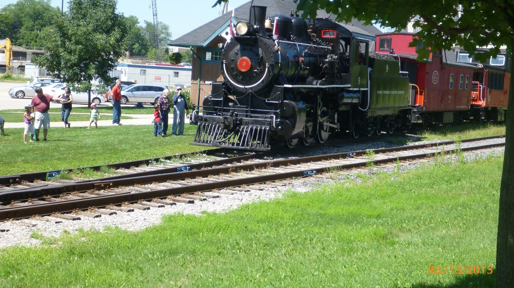 A train along the trails in KW (Kitchener Waterloo)
