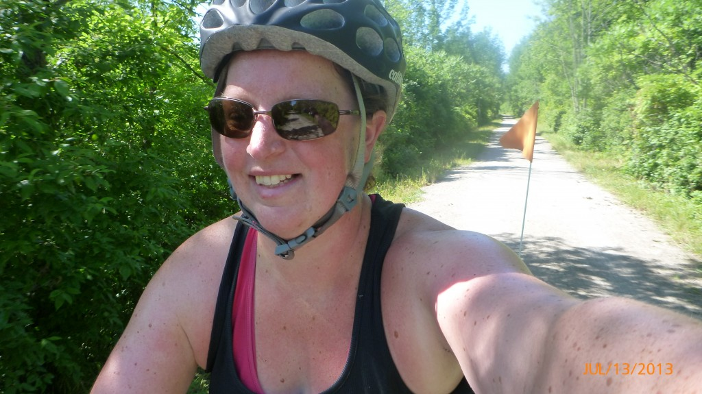 Me biking on the rail trail - I LOVE rail trails!!!