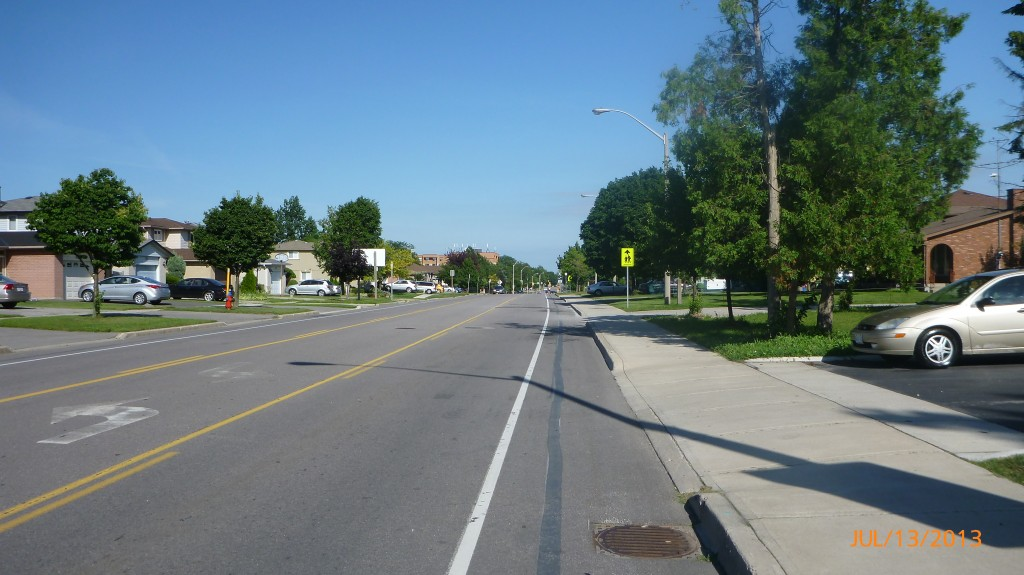 Bike lane on Stone Church Road in Hamilton