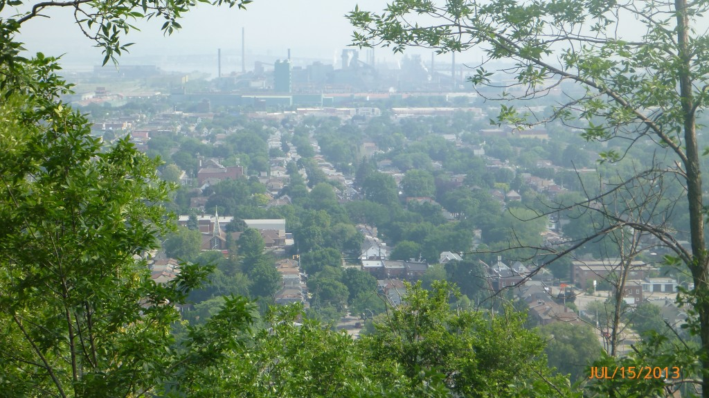 Hamilton from the top of the escarpment