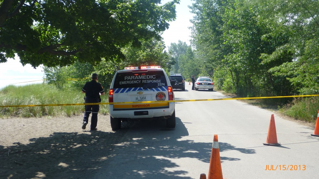 Trail closed for a short section due to the crime scene