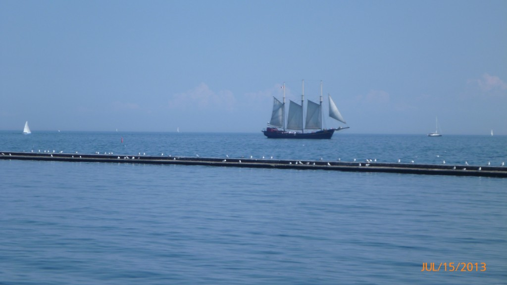 A ship on Lake Ontario near Toronto