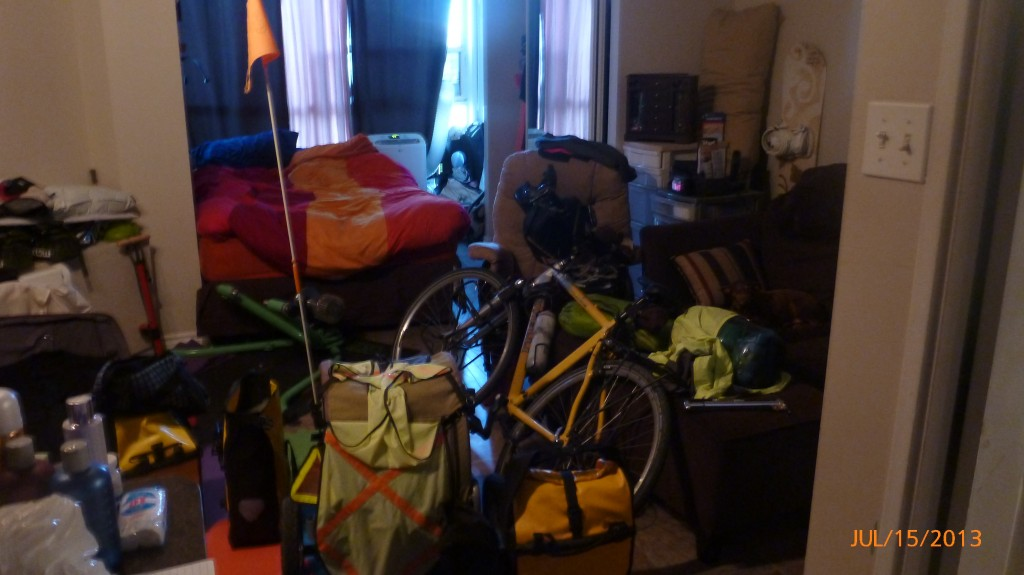 This is what it looks like when two people are transiently living in a 400sq ft condo