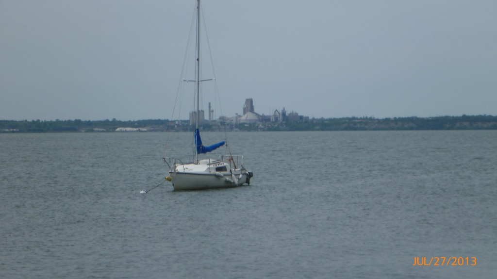 View from the ferry landing area