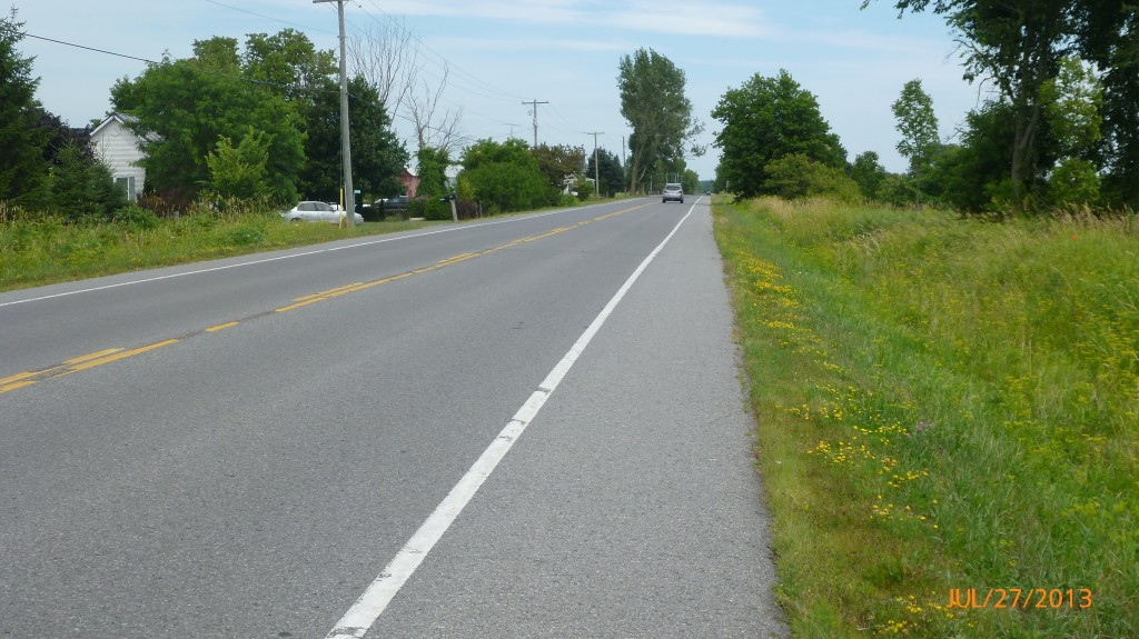 View along the loyalist parkway