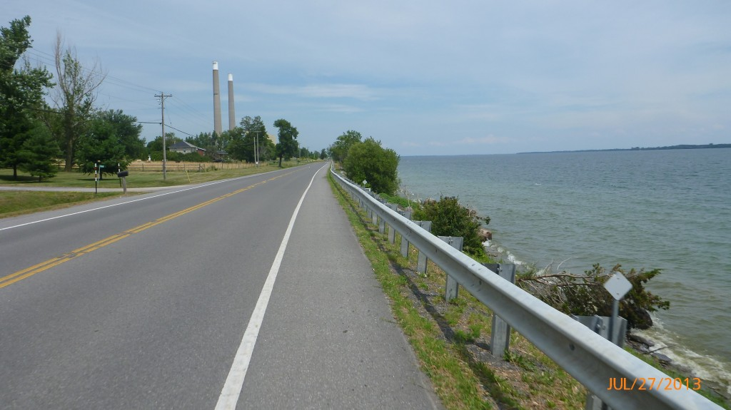 Loyalist Parkway closer to the waters edge