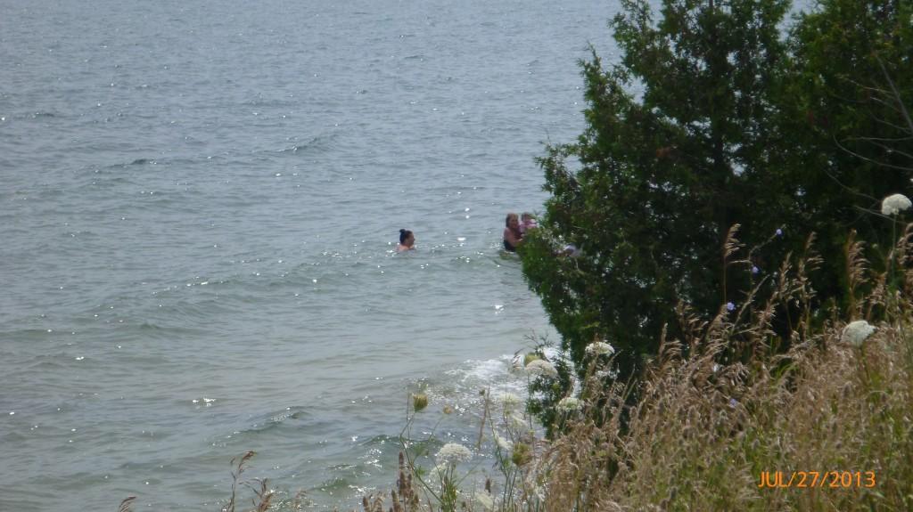 Swimming in Lake Ontario