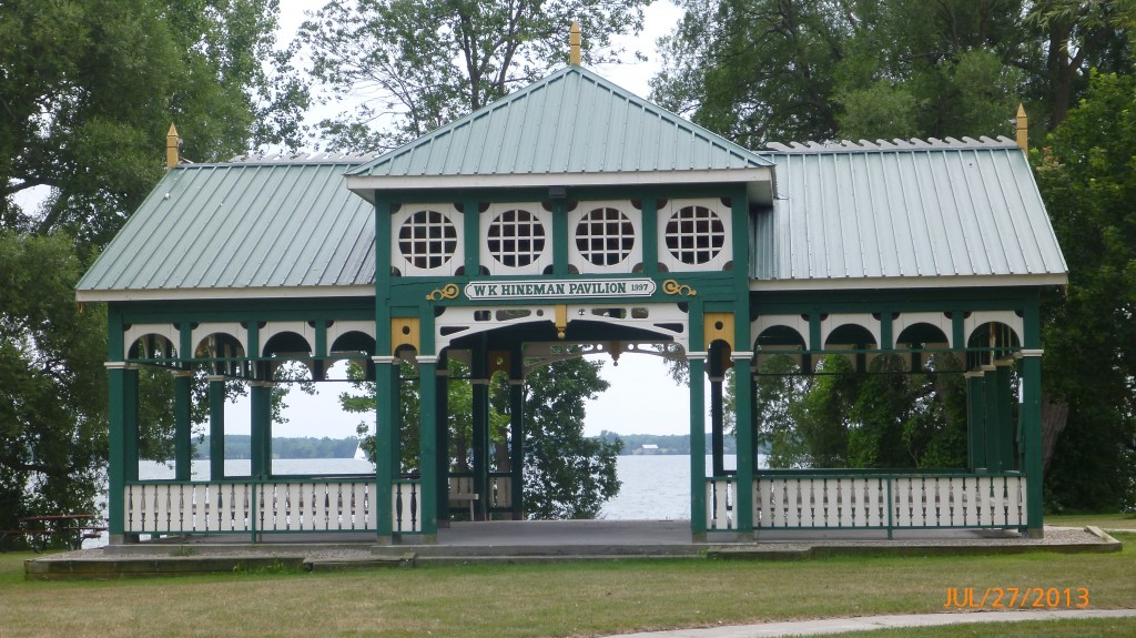 Pavilion in the park just west of Bath
