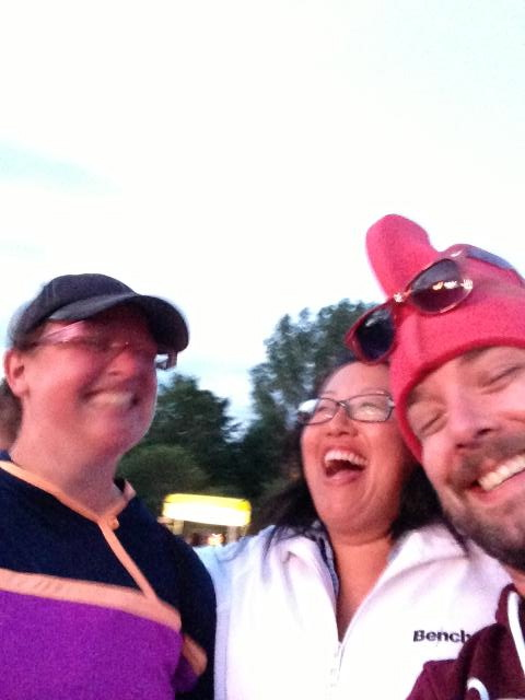 A bit blurry, but sharing some laughs at Osheaga