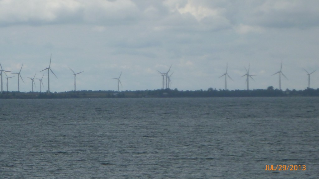More windmills across the river in Kingston
