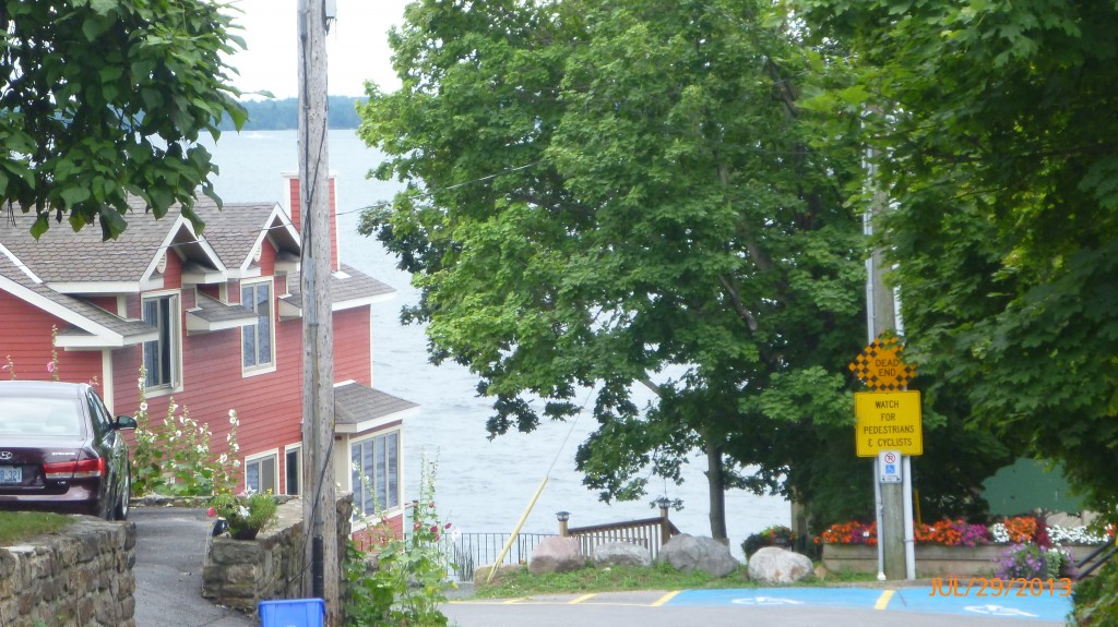 This is where I was REALLY hoping there would be a park.  Oh well - my first view on this trip of the St. Lawrence River