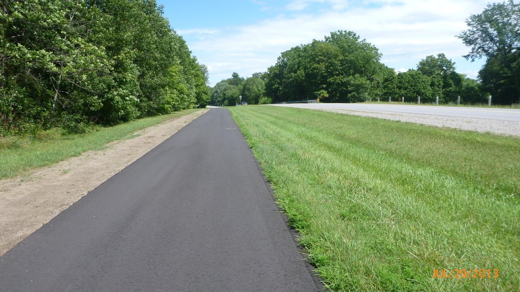 A newly paved bike path - even better!