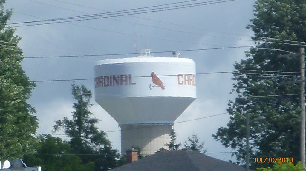 Cardinal water tower