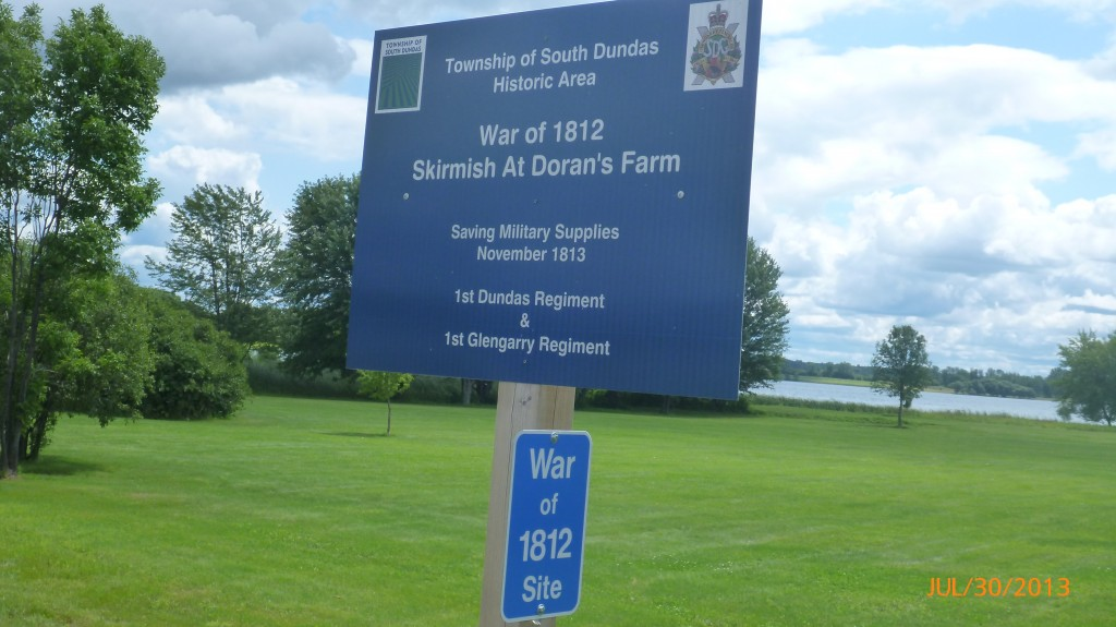 Several war of 1812 sites along this stretch of road