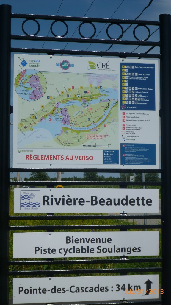 Some of the info provided along La Route Verte