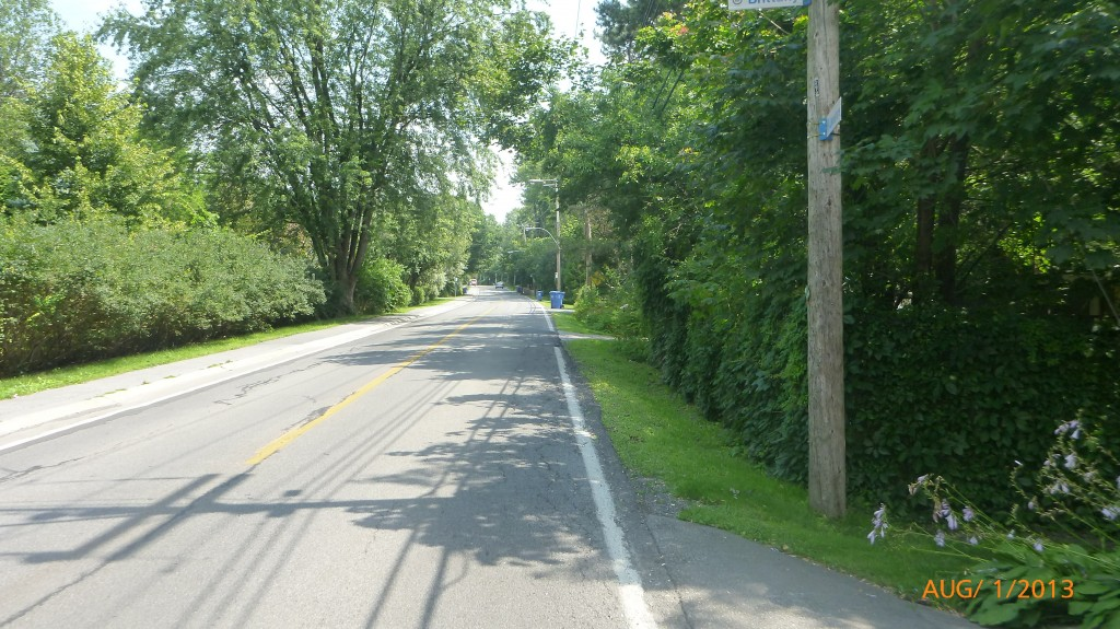 Cycling through suburbs of Montreal