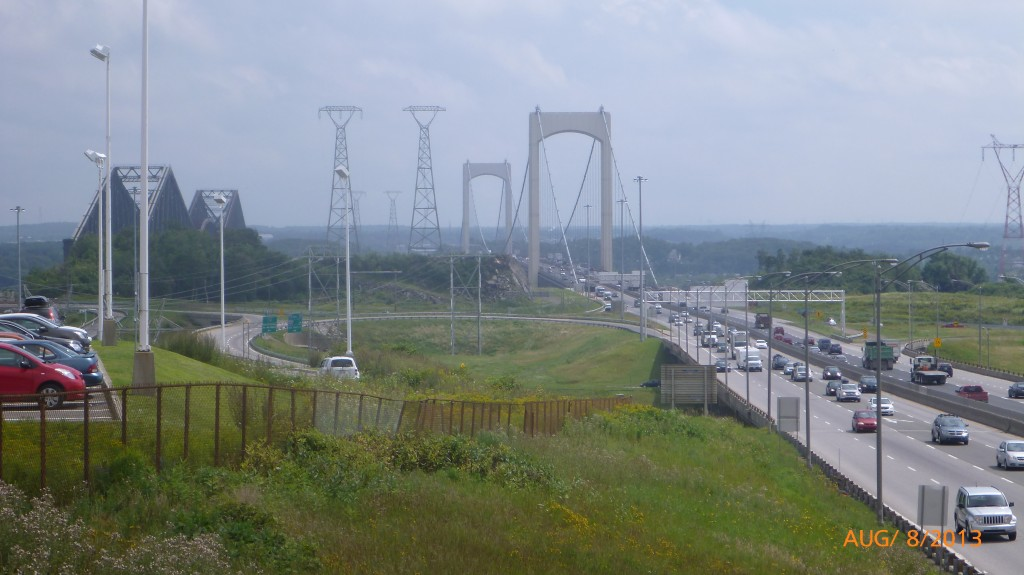 This is the bridge I'll be taking to cross the St. Lawrence on Sunday?  Hmm - it looks busy.  I think I should research this a bit more ahead of time.