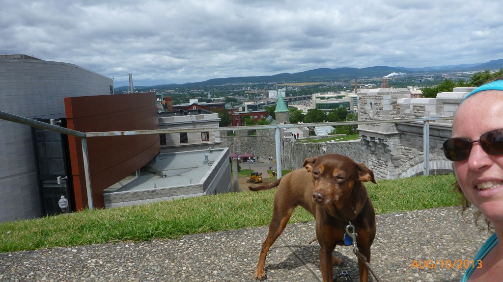 Dash and I overlooking Old Quebec