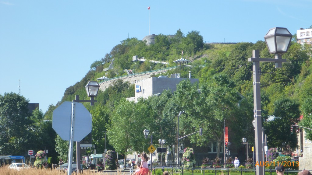 One last view of fort Quebec from the ferry terminal