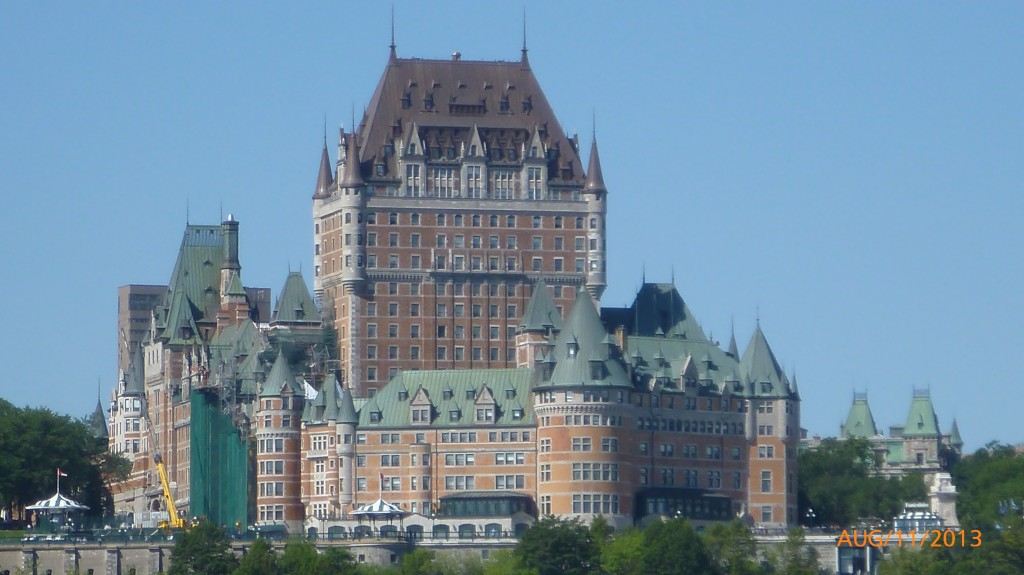 View of Chateau Frontenac from the ferry