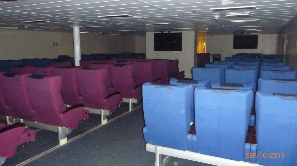 My sleeping quarters for the night on the ferry