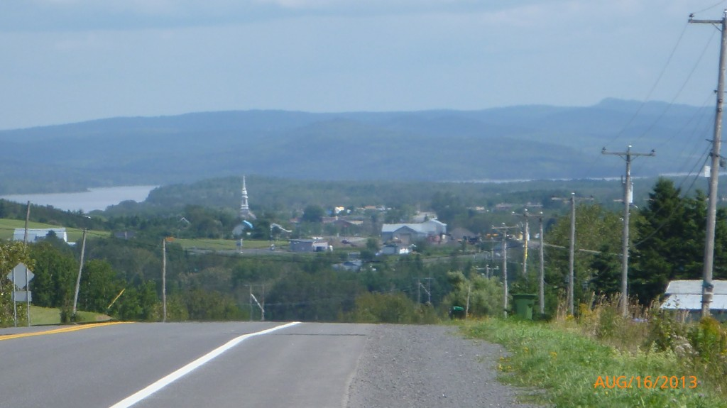 The town of Sayabec and Lac Metapedia