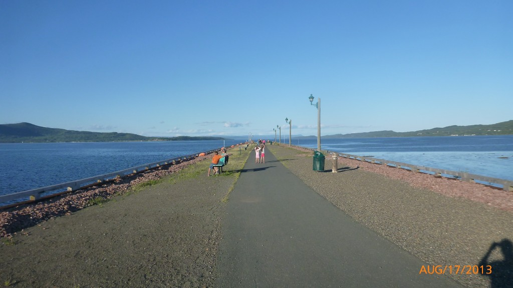 Walking along the promenade in Campbellton