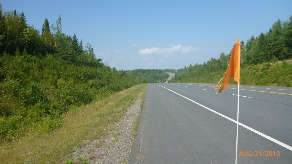 Hwy 8 - one of the few spots that actually had a paved shoulder