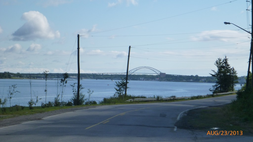 Riding along the river in Miramichi