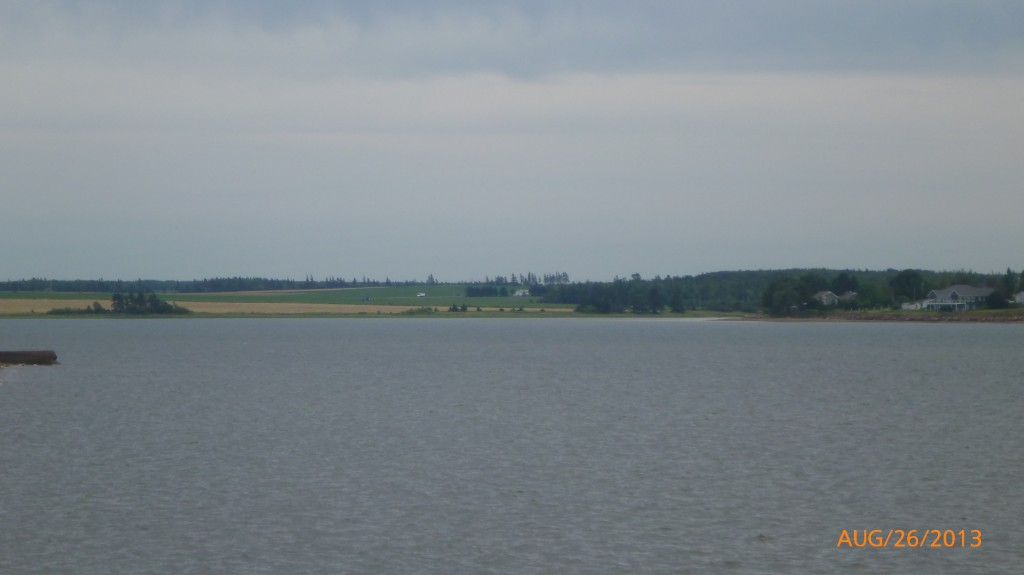 Farmland across the water