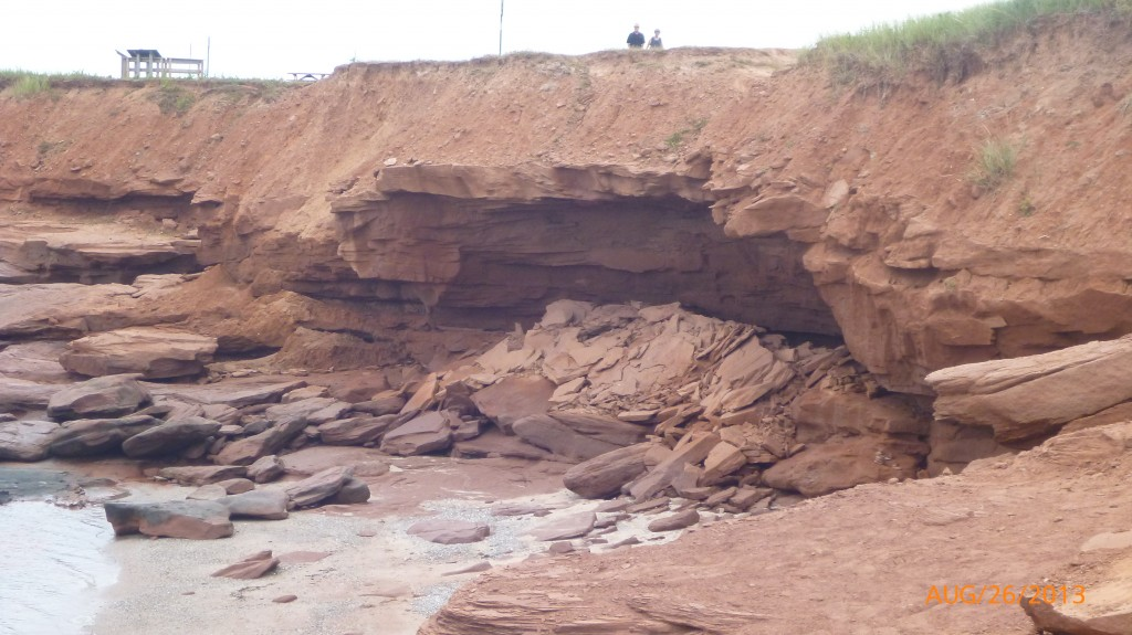 Evidence of the cliff erosion