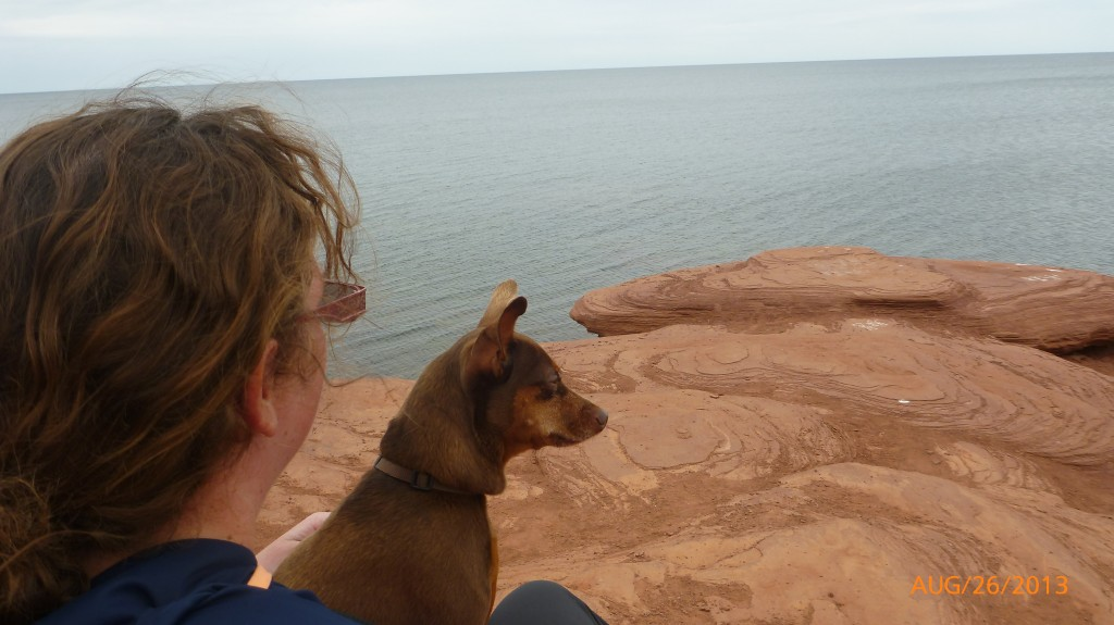 Dash and I soaking up the view