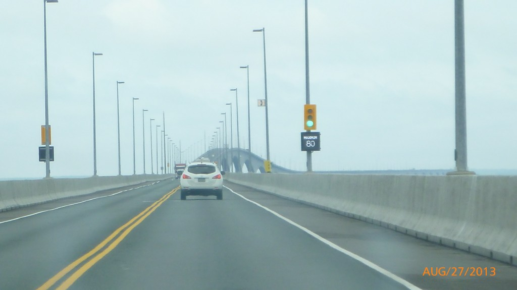 Driving across the Confederation Bridge