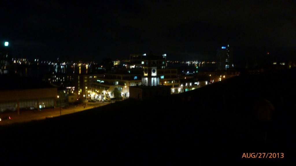 Halifax from the top of the Citadel at night